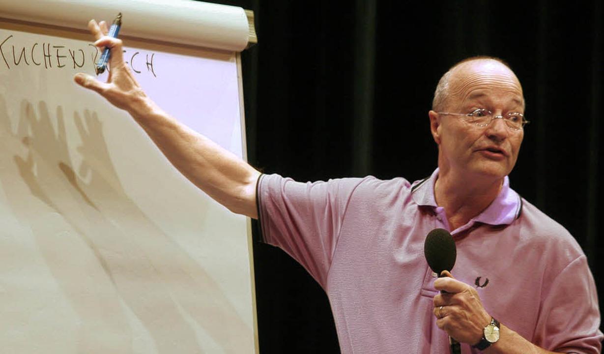 Training für die grauen Zellen: Die An...d stammt von  seinem Vortrag in Lahr.   | Foto: BZ-Archiv: heidi Fössel
