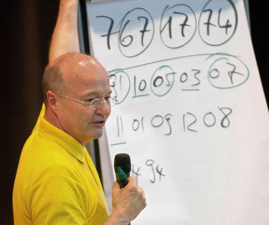 Mehrstellige Zahlenfolgen in wenigen Minuten lernen? Für Staub kein Problem.  | Foto: Stefan Merkle