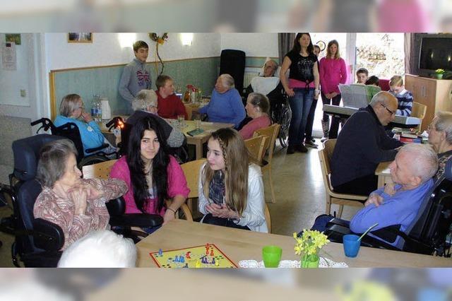 Wie Besuch von den Enkeln