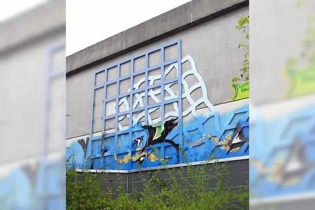 Sprayer zerstören Kunstwerk von René Acht