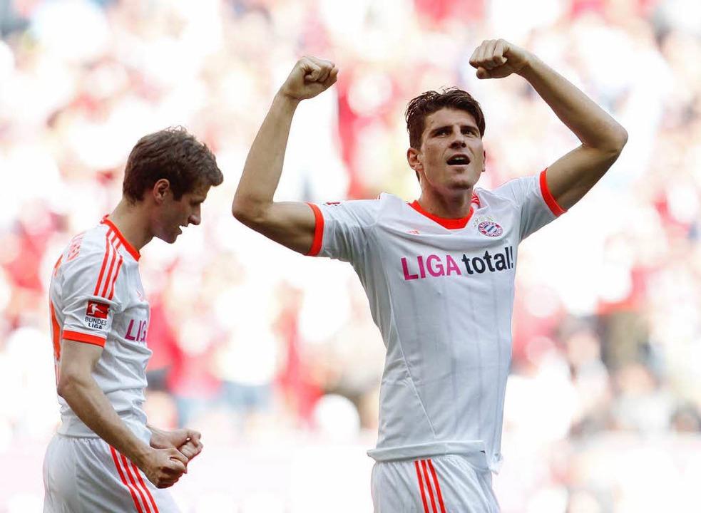 Geht es gegen seinen Ex-Klub Stuttgart...So auch beim 2:0-Erfolg seiner Bayern.    Foto: dapd