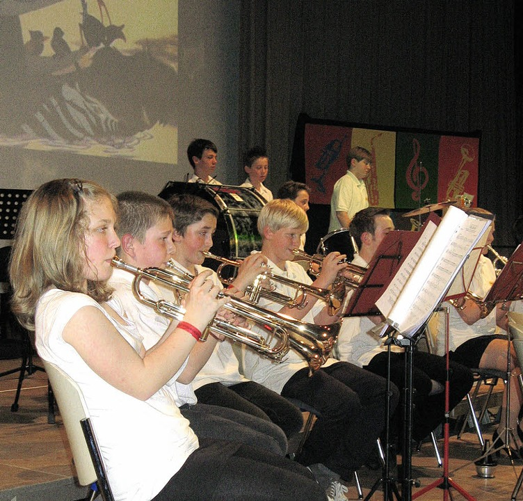 "Die ""Young Generation"" des Musikvereins Gundelfingen   | Foto: roman kieNer"