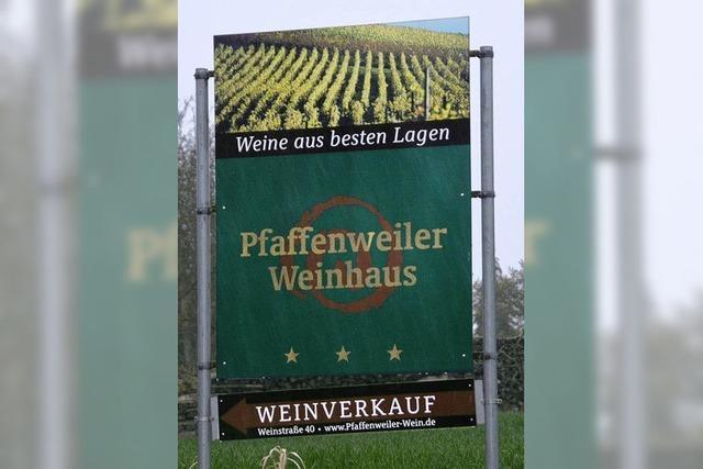 Die Werbung für den Wein muss weg