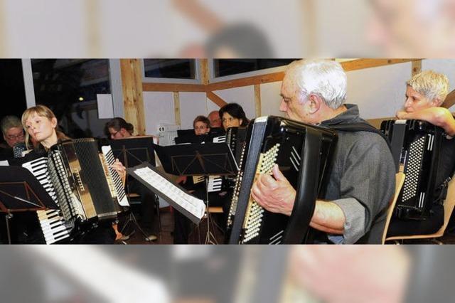Harmonika-Freunde glänzen mit feurigen Tänzen