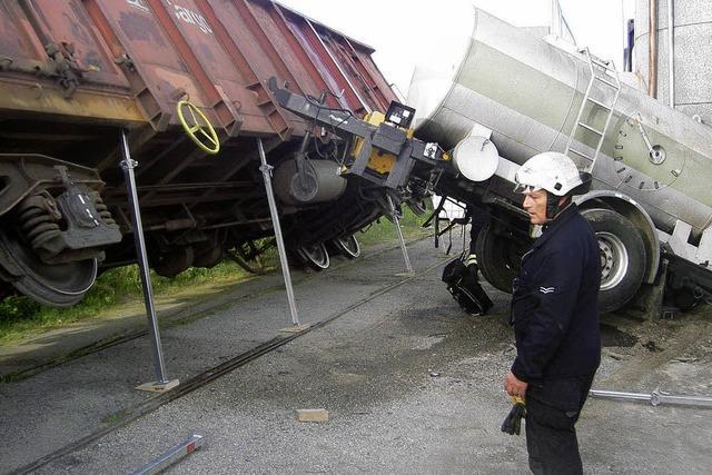Güterwaggon entgleist