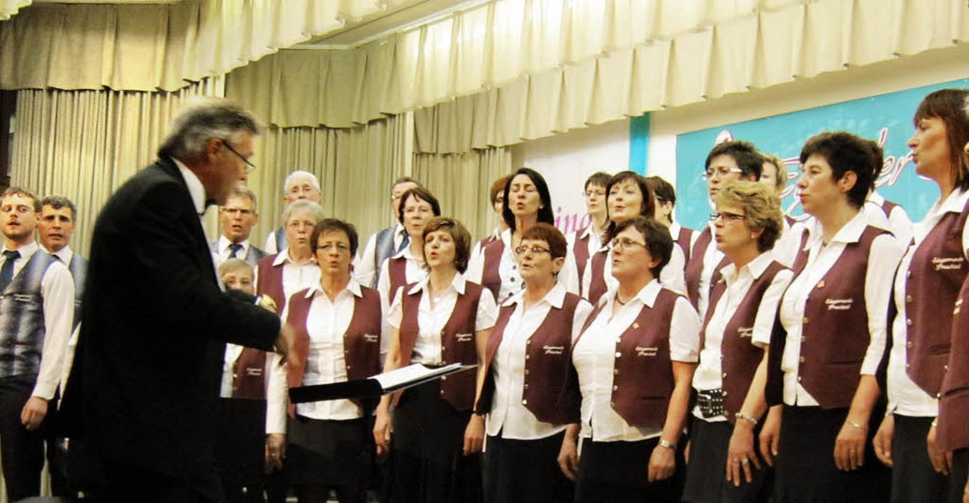 Auch die Sängerrunde Prechtal war dabei.   | Foto: Günter Bank
