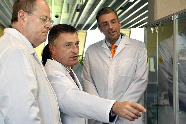 Peer Steinbrück besucht die Testo