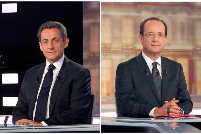 Sarkozy und Hollande liefern sich ein erbittertes TV-Duell