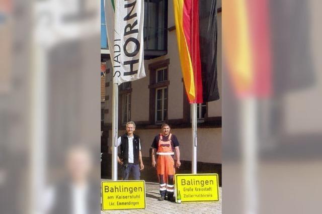 Ba(h)linger Schildertausch