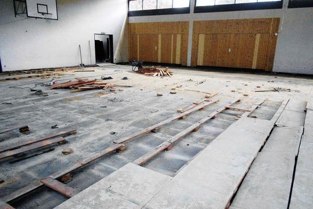 Baustelle Turnhalle