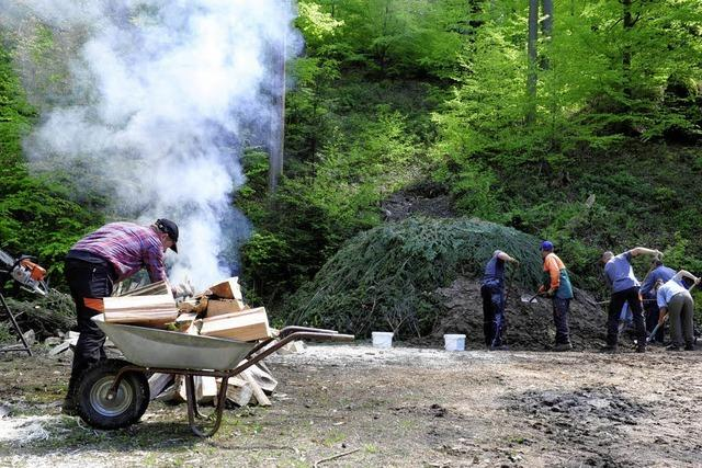 Das Freiburger Forstamt wirbt für das Naturprodukt Holz