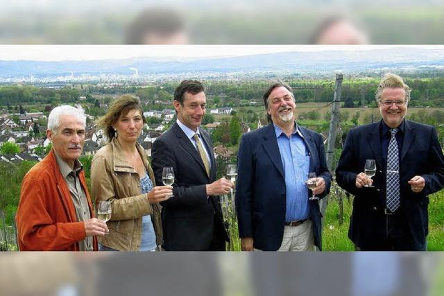 Werbung für Wein und Landschaft