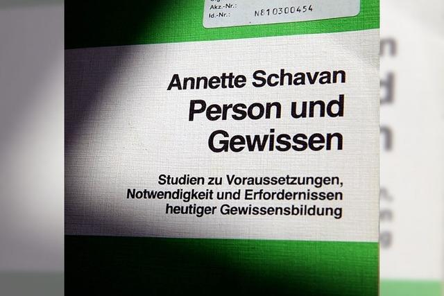 Schavans Doktorarbeit ist kein zweiter Fall Guttenberg