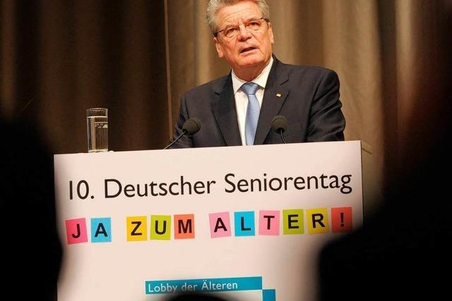 Gauck wirbt für flexibles Renteneintrittsalter