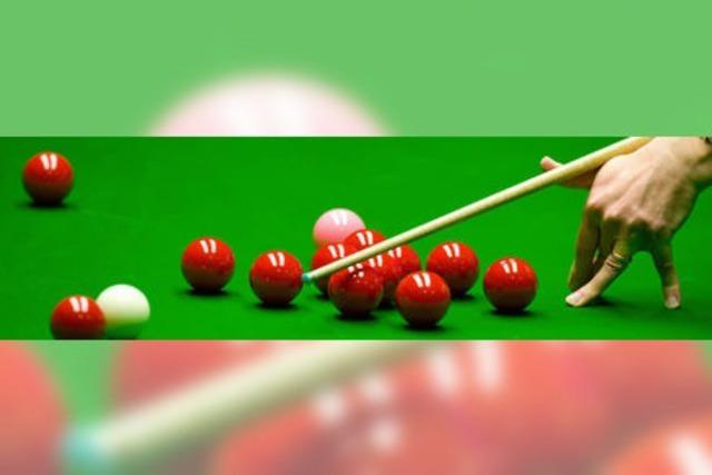 Snookerspieler laden ein
