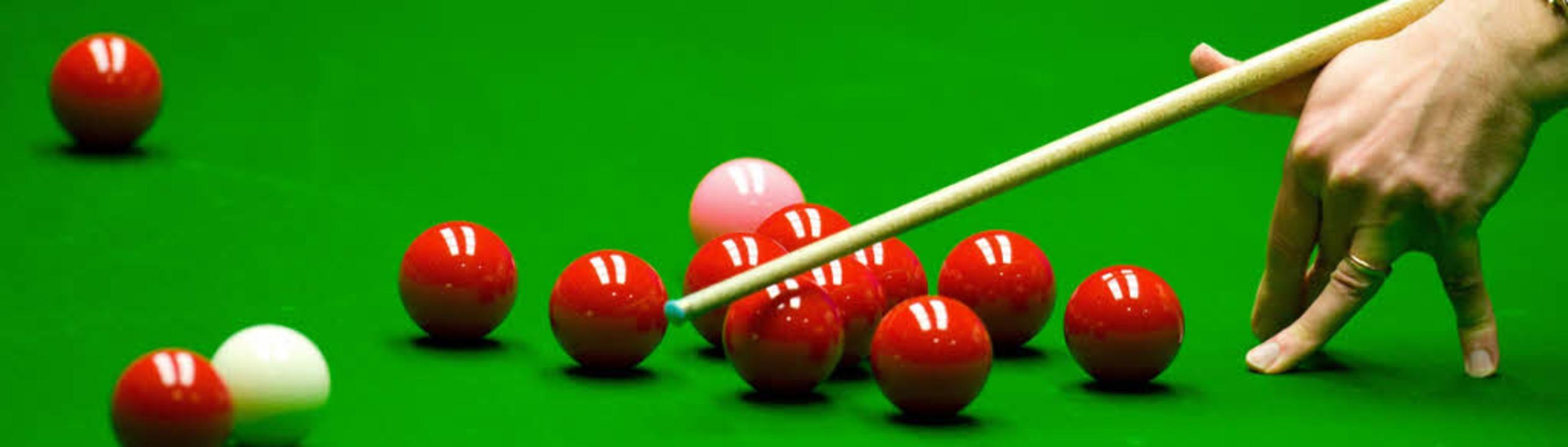 Snooker mit Deutschen Meistern – die DJK macht's möglich.   | Foto: dpa