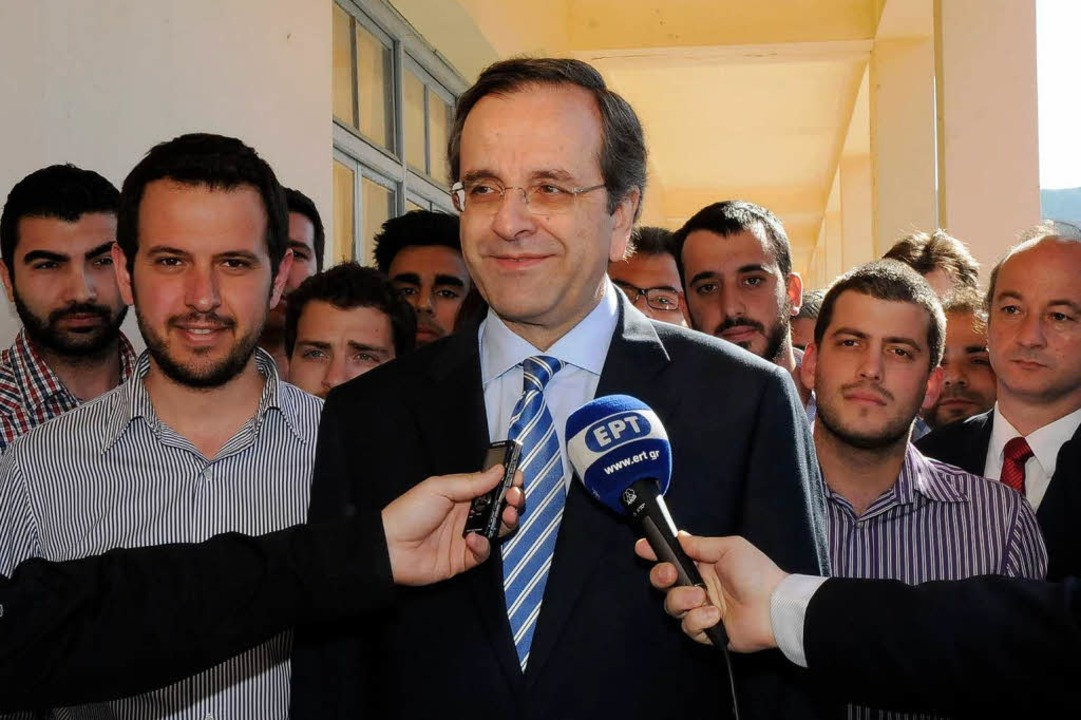 Trotz herber Verluste: Samaras Antonis...rkste Kraft im griechischen Parlament.  | Foto: AFP