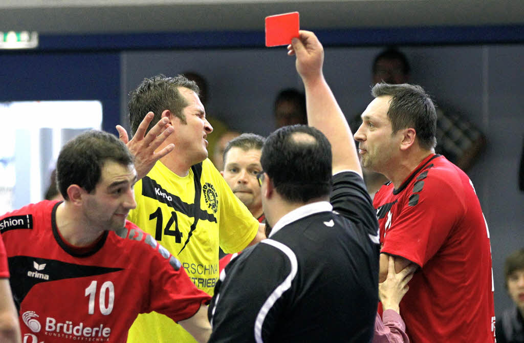 Rote Karte Handball