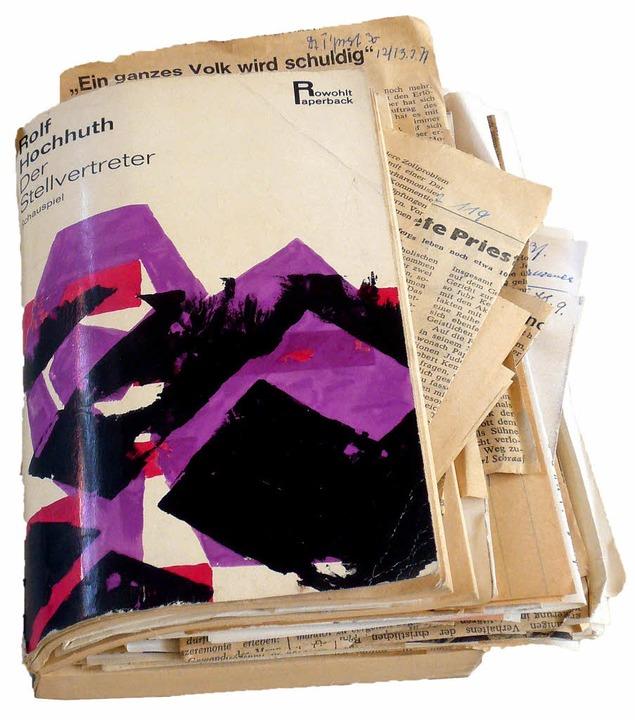 Gertrud Luckner hat nicht nur gelesen:  Der Hochhut  mit all ihren Zusatzinfos.   | Foto: privat