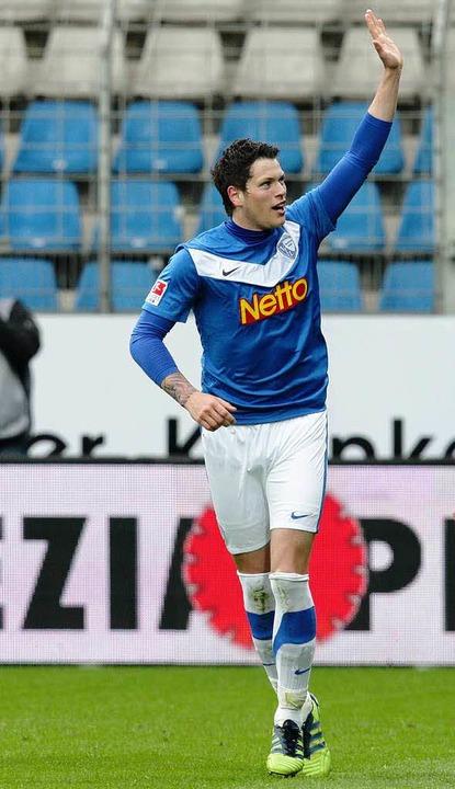 Daniel Ginczek, zuletzt von Borussia D...hen, ist beim SC Freiburg im Gespräch.  | Foto: Verwendung weltweit, usage worldwide