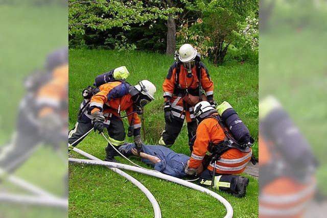 Wasserentnahme aus dem Brandweiher war bei Übung nicht möglich