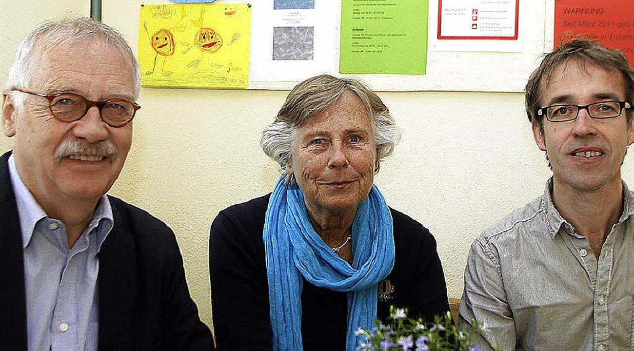 Rolf Mägdefrau (links) ist neuer Vorsi...sychosoziale Beratungsstelle leitet.    | Foto: heidi fössel