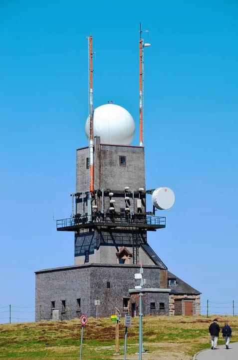 Ersatzturm für das Wetterradar  | Foto: Ralf Morys
