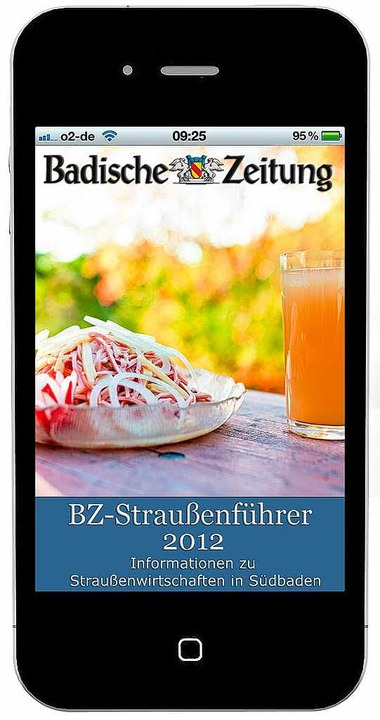 Eine App für Apples I-Phone: der BZ-Straußenführer 2012  | Foto: bz