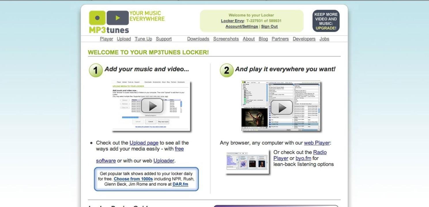 MP3tunes: Locker - Eigentlich keine sc...hochladen und überall verfügbar haben.    Foto: IDG