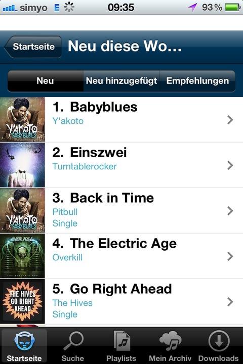 Napster: App - Die neue Napster-App is...-Store. Viele kündigten sogar ihr Abo.    Foto: IDG