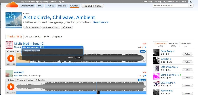 Soundcloud: Kommentare - Die Tracks kö..., das eine Anmerkung hinterlassen hat.    Foto: IDG