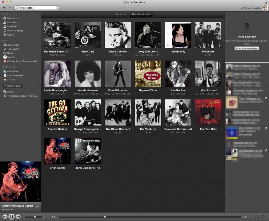Spotify: Künstler - Mit der Empfehlung...ktion entdeckt man schnell neue Musik.    Foto: IDG