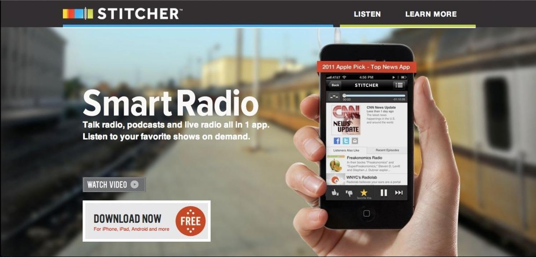 Stitcher: Startseite - Stitcher bringt...adiosendungen per App aufs Smartphone.    Foto: IDG