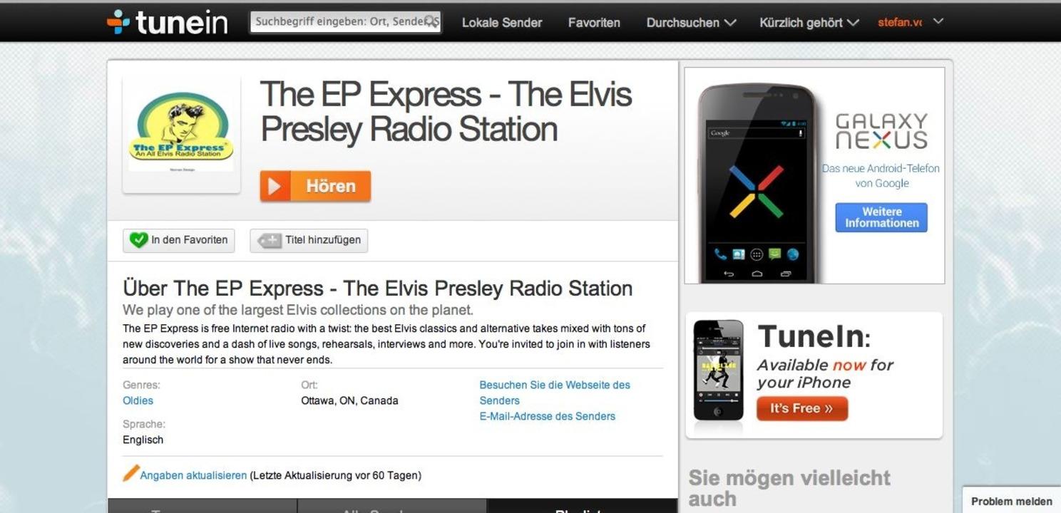 Tunein Radio: Station - Jede Station wird mit vielen Infos präsentiert.    Foto: IDG