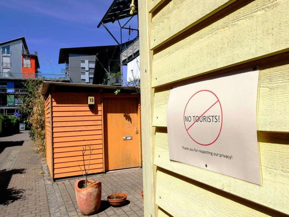 Die Vauban gilt auch im Ausland als ök...ierte das Quartier besichtigen wollen.  | Foto: Ingo Schneider