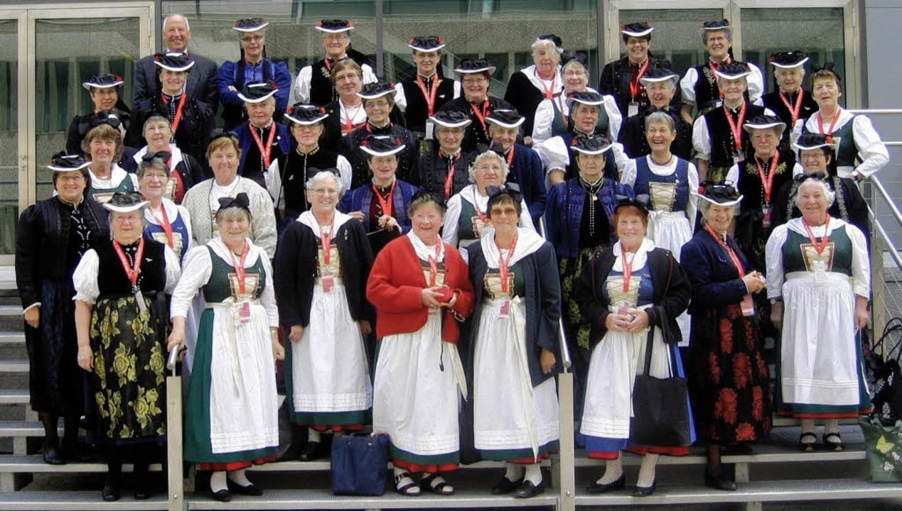 In ihren Trachten und mit ihren Lieder...sehen beim Katholikentag in Mannheim.   | Foto: Privat