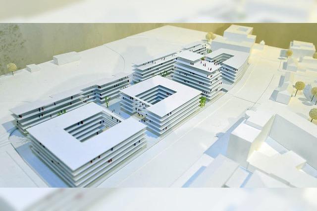 Postareal wird nach einem Entwurf Freiburger Architekten bebaut