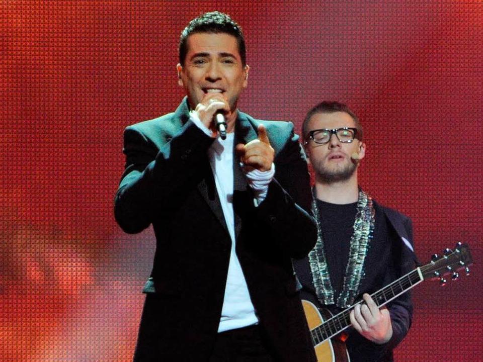 Zeljko Joksimovic aus Serbien wird Dritter beim Eurovision Song Contest 2012.  | Foto: AFP