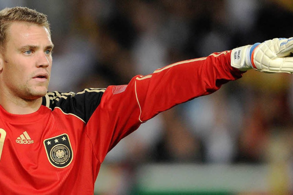 Torwart:    Manuel Neuer          , Bayern München  , Geburtsdatum:   27.03.1986, 25    Länderspiele, Debüt:          2. Juni 2009 in Dubai beim 7:2 gegen Vereinigte                 Arabische Emirate, Turniere:       WM 2010 (Foto: dapd)