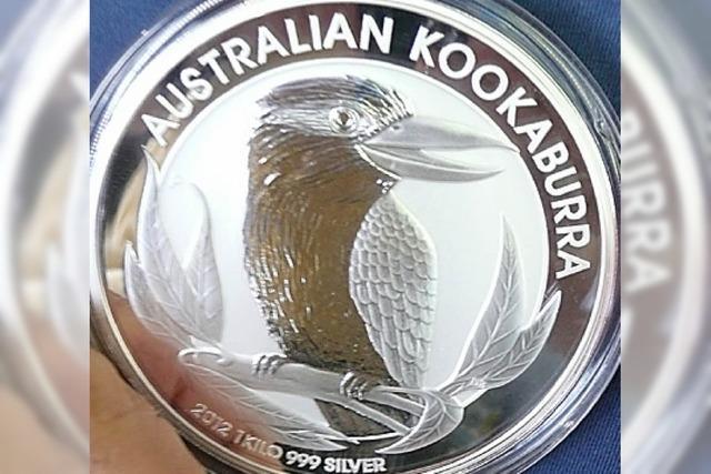 Ein Kilo Silber, ganz handlich