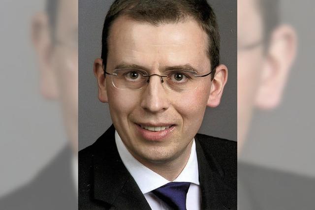 Landrat Sven Hinterseh ist jetzt im Dienst