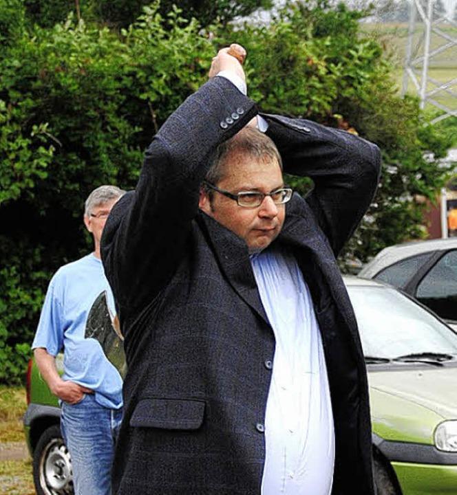 Versuchte es auch mal:  Säckingens Bürgermeister Alexander Guhl  | Foto: Ralph Fautz
