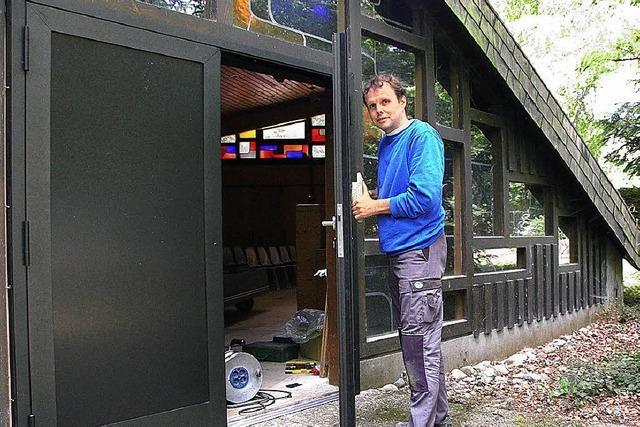 Neue Tür bereits montiert