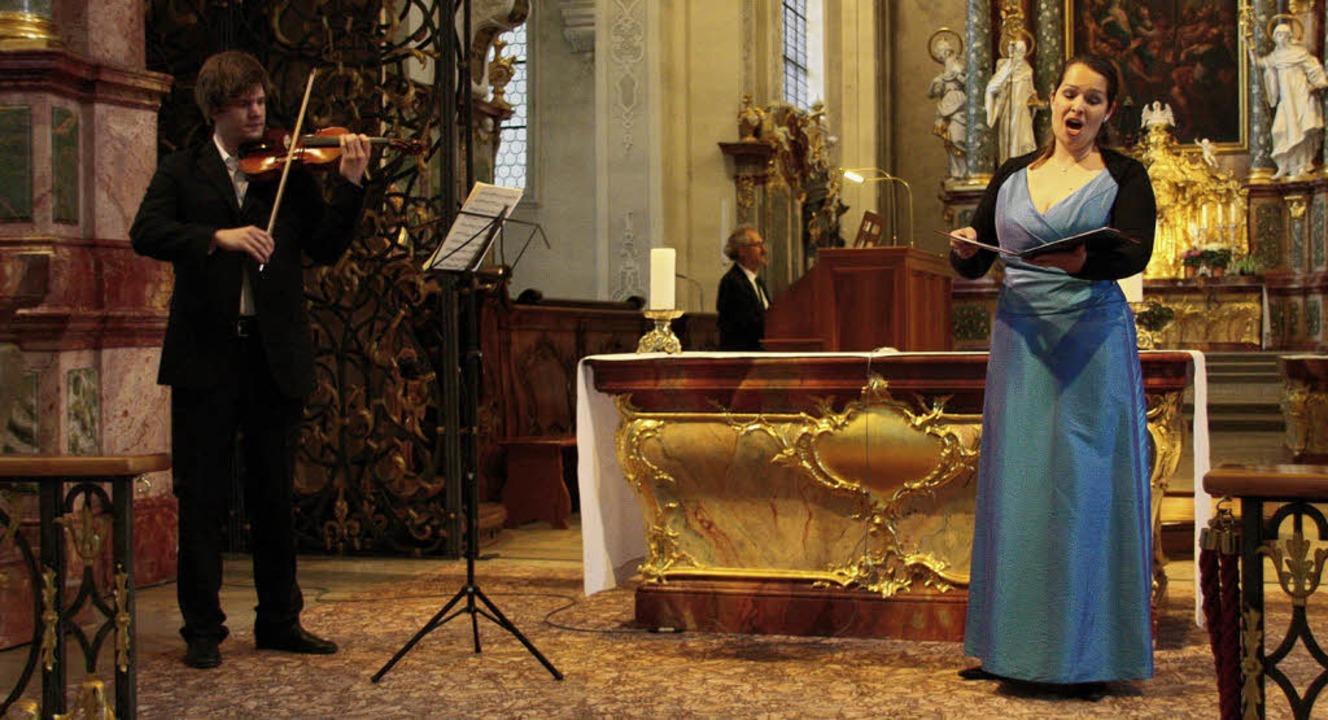 Gerhard Gnann, Orgel, Claudia Kienzler...Sebastian Bach und Sigfrid Karg-Elert   | Foto: Hans-Jürgen kugler