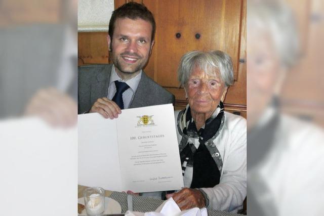 Erna Rohleder 100 Jahre alt