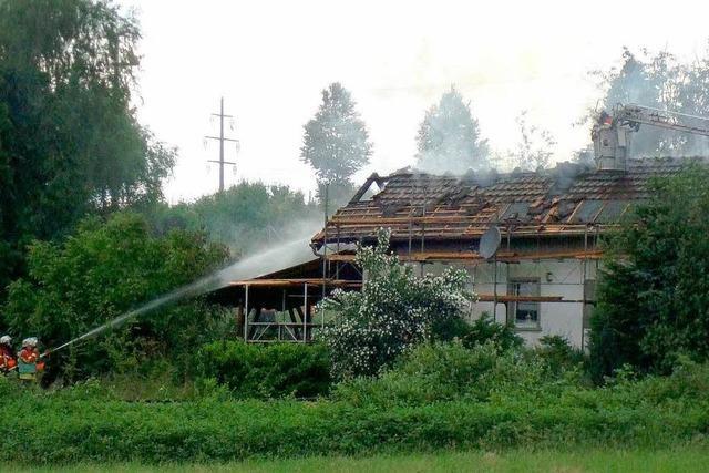 Zündelndes Kind löst Brand in Luttingen aus – hoher Schaden