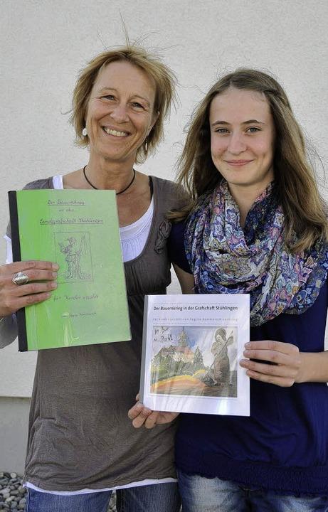 Susann Bächle, Leiterin der Theater AG...e RS 8c, die das Titelbild gemalt hat.  | Foto: Arnfried Winterhalder