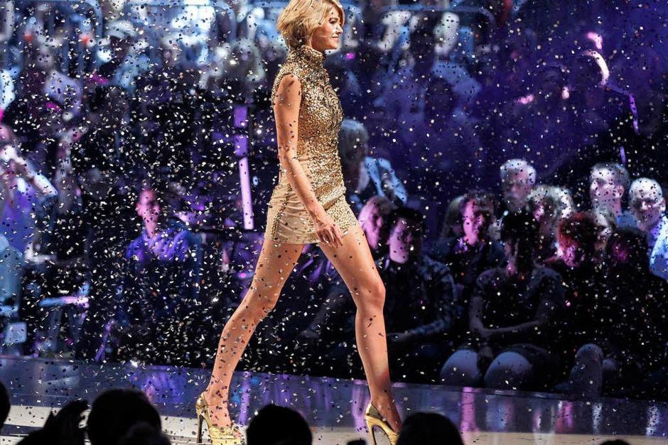 """Siegerin Luisa aus Leer. Chef-Jurorin Heidi Klum lobte Luisas """"perfekte Maße, ihren Weltklasselook und ihr absolutes Talent"""". (Foto: dapd)"""