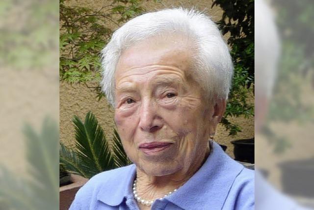 95 ist die älteste Nimburgerin