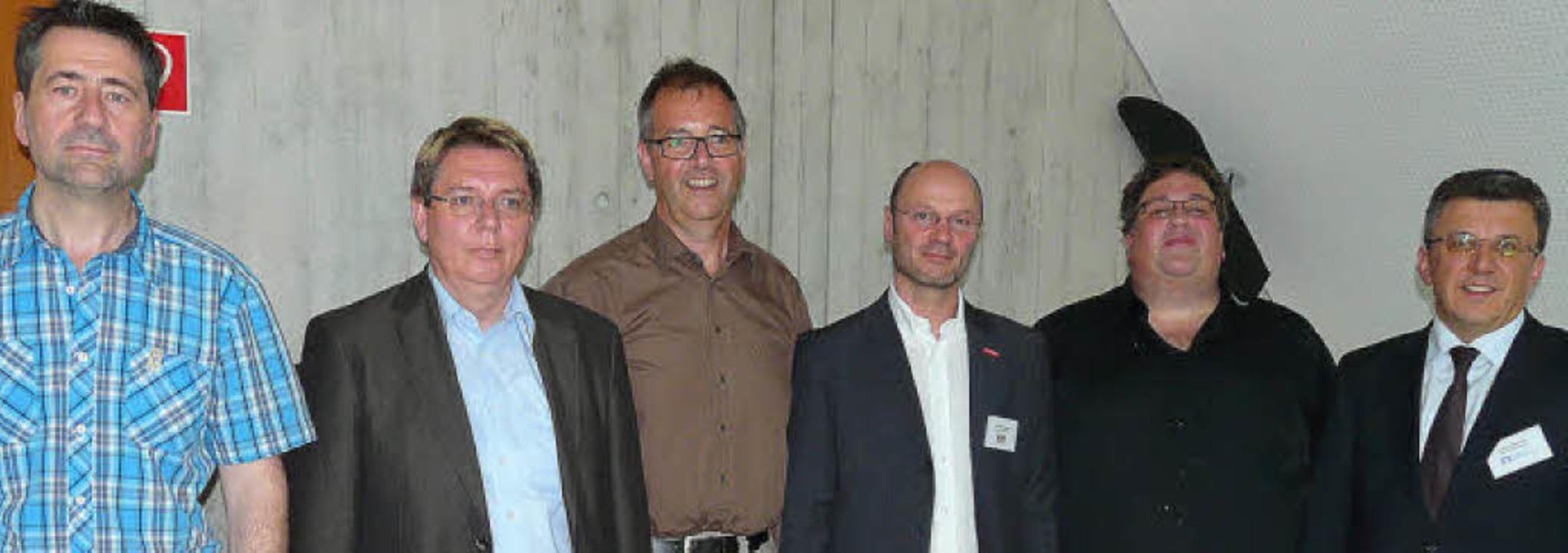 Referenten bei den 6. Bleibacher Gespr...Merkle, Herbert Becherer (von links).   | Foto: Eberhard Weiss